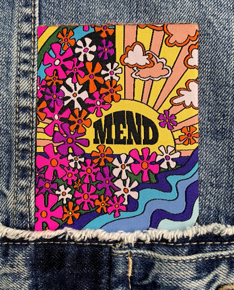 Image of Mend - Woven Iron-on Patch