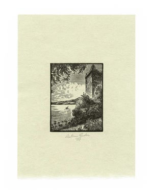 Loch Ness, Wood Engraving - Green