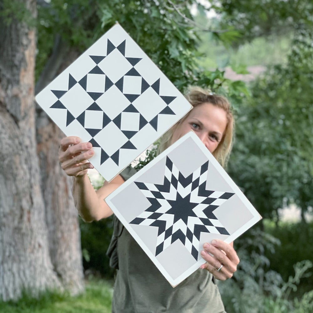 Image of NEW!!!  Set of 2 - Nantucket + Star Bright // B&C Barn Quilts