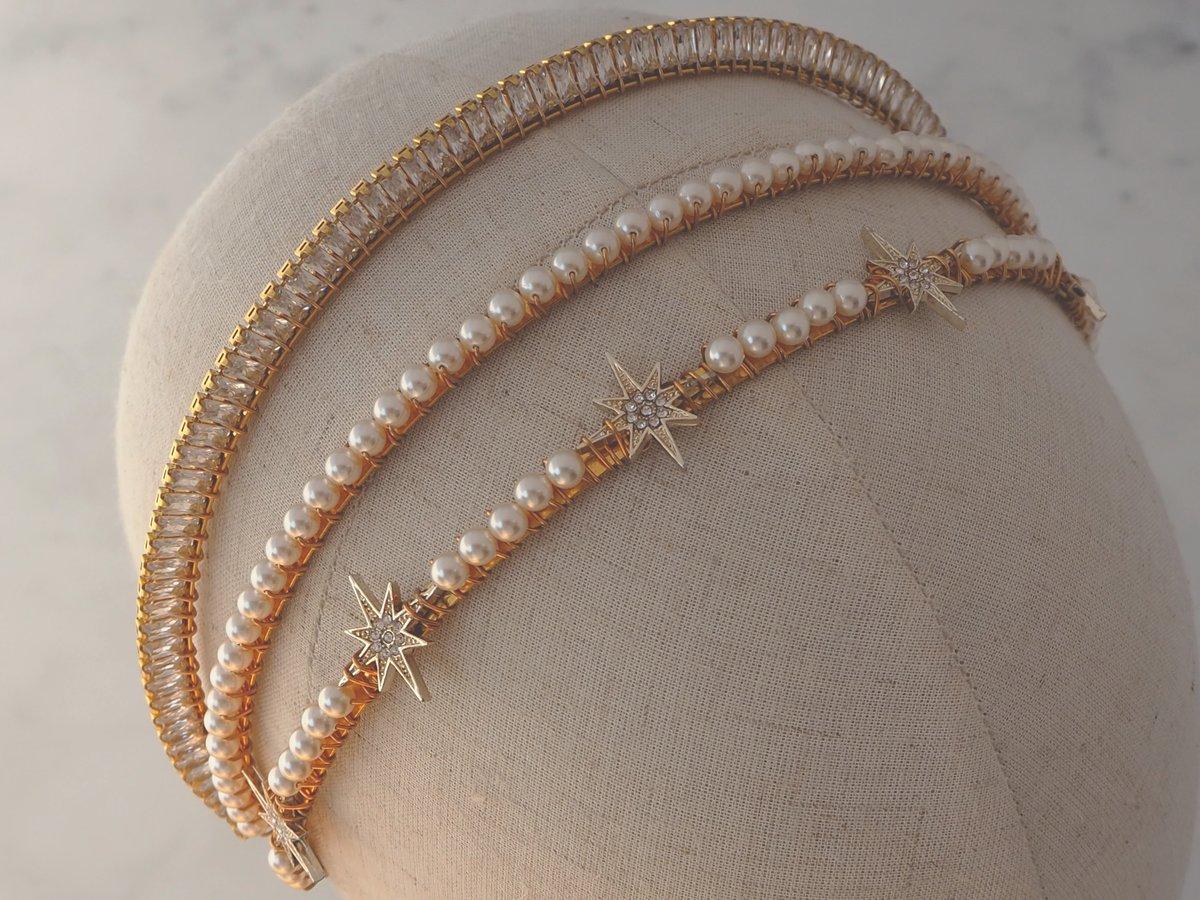 Star and Pearl petite headband