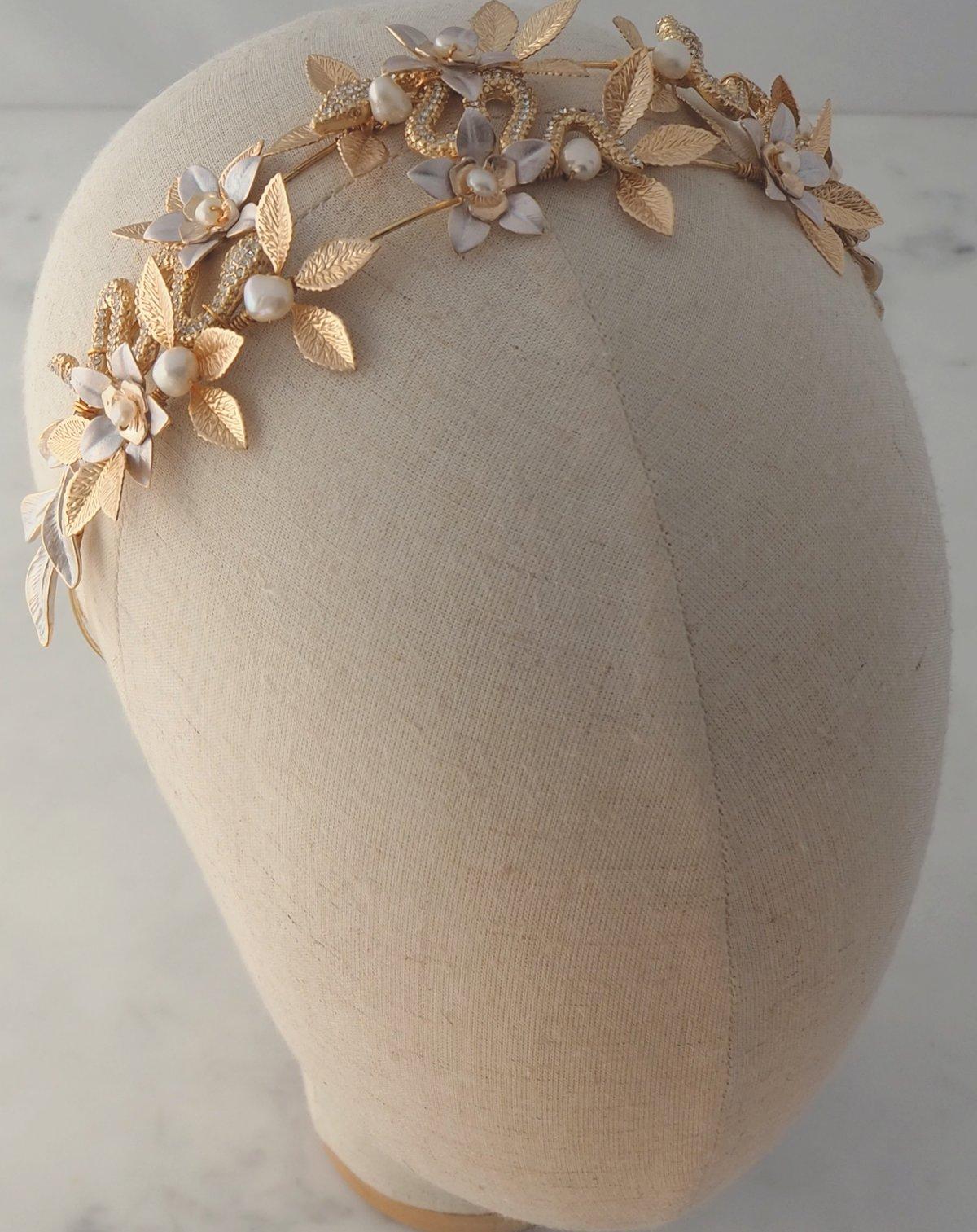 Lotus Serpent headband