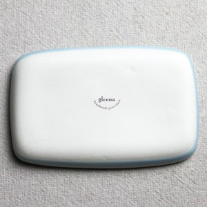 Image of small rectangular tray with whale, ocean