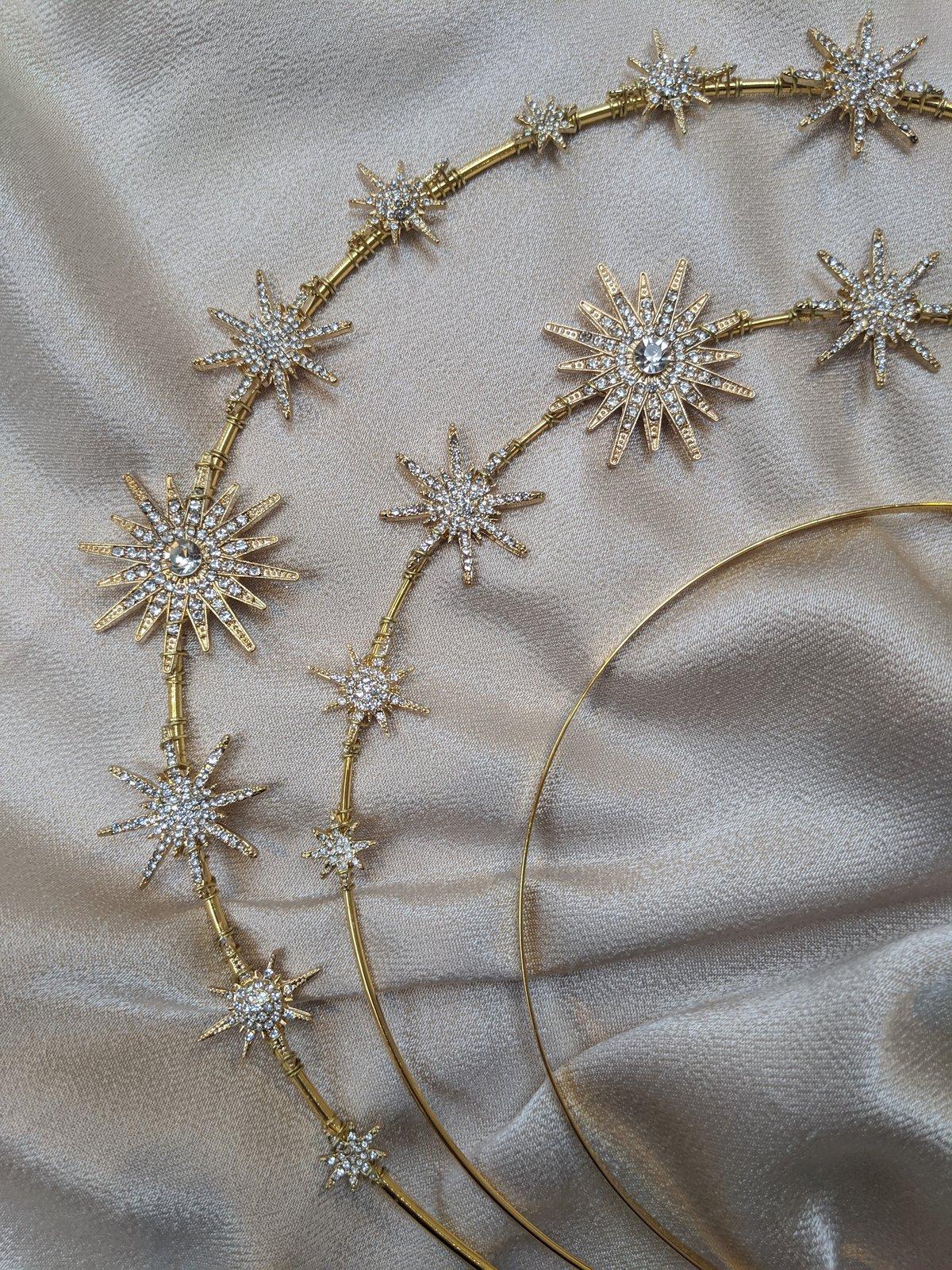 Gold Constellation halo headband