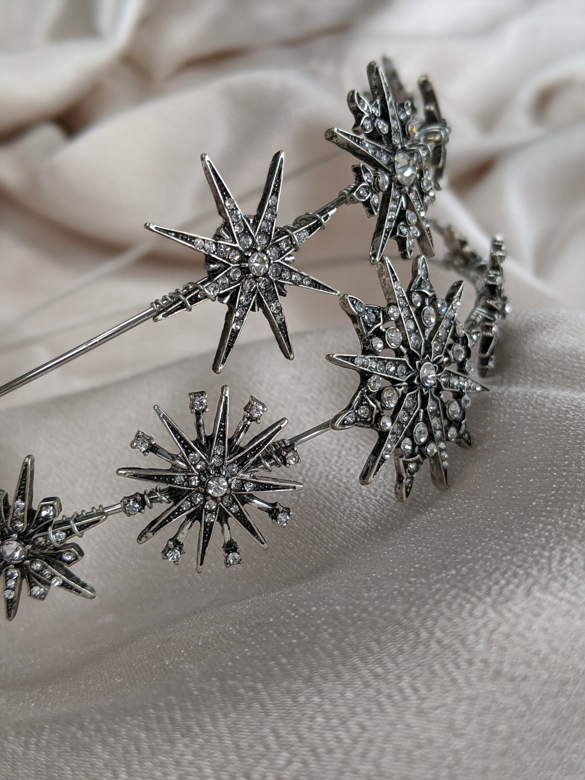 Stellar silver headband
