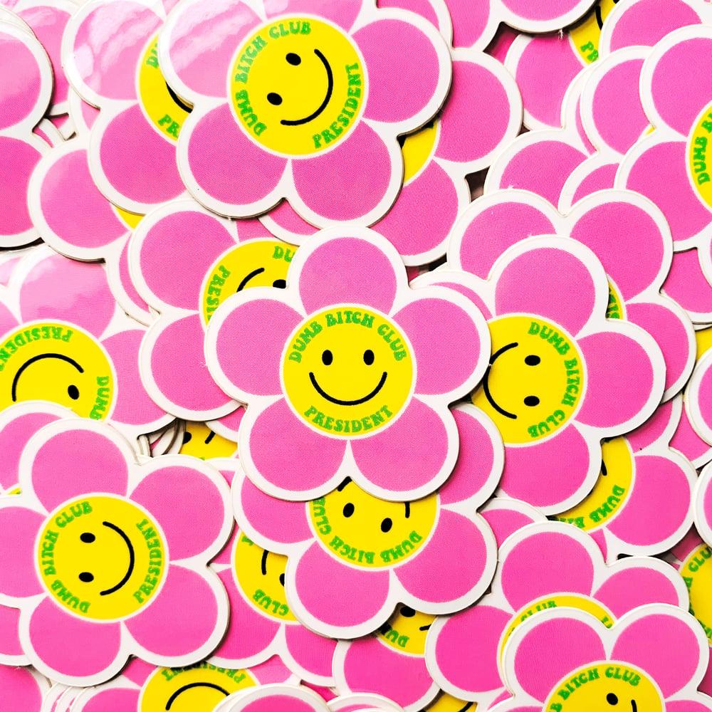 Image of Dumb Bitch Club President Mini Sticker