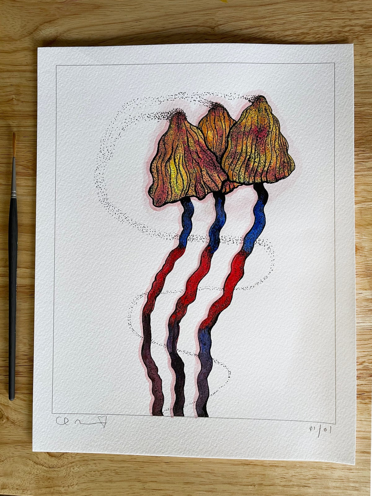 Image of 'Little Portals' + Hand Painted Watercolor Accents