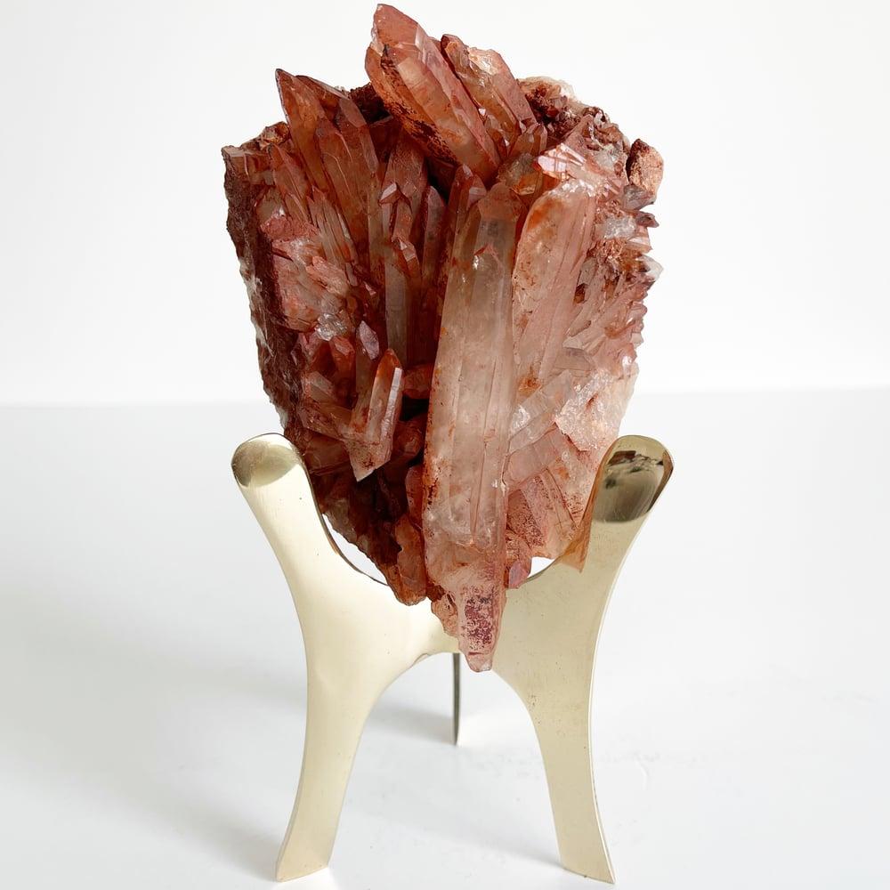 Image of Hematite Quartz no.96 + Brass Triangle Stand