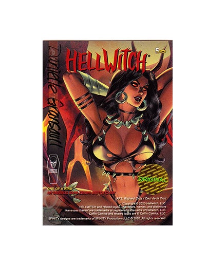 Hellwitch NUDE 5finity sketchcard AP