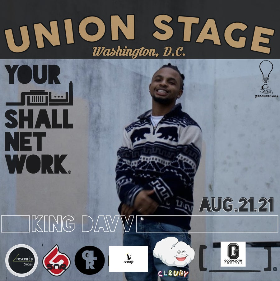 Image of KING DAVV | Union Stage August 21st