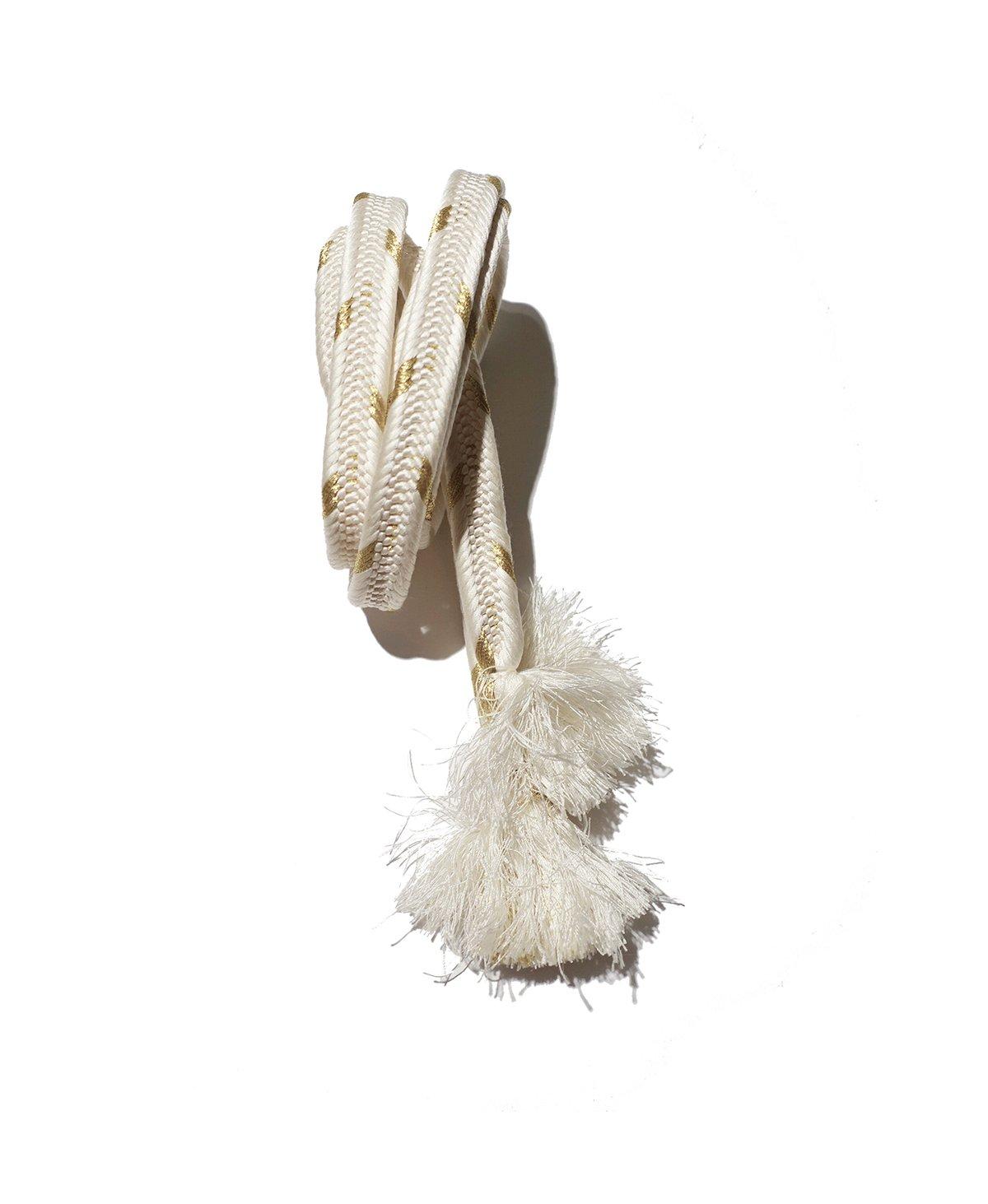 Image of hvidt&guld silke bælte