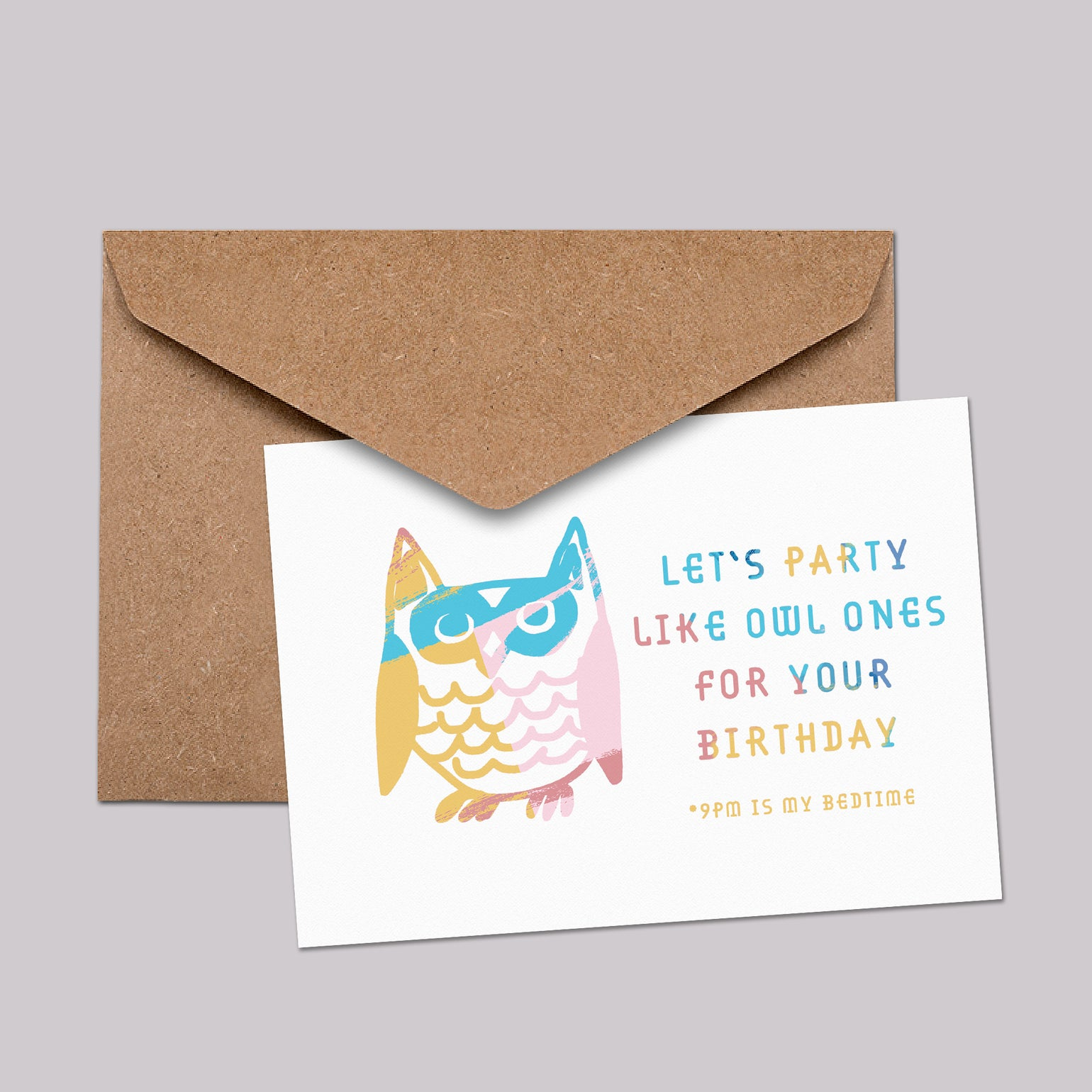 Image of Let's party like owl ones for your birthday **9pm is my bedtime