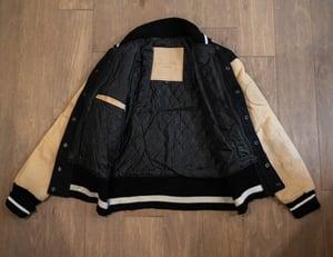 Image of Black & Cream Varsity Jacket