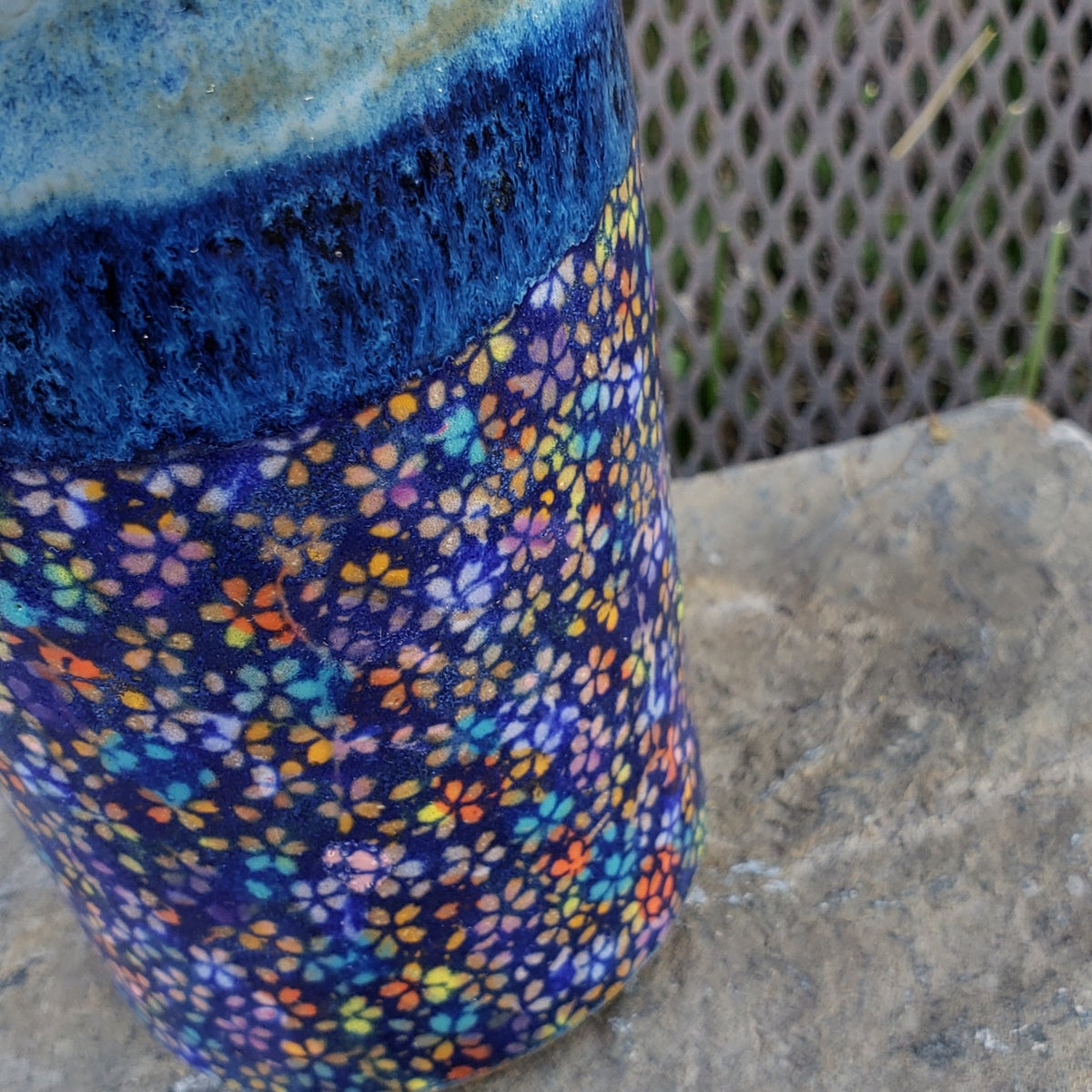 Image of Batik Tall Tumbler: Blue