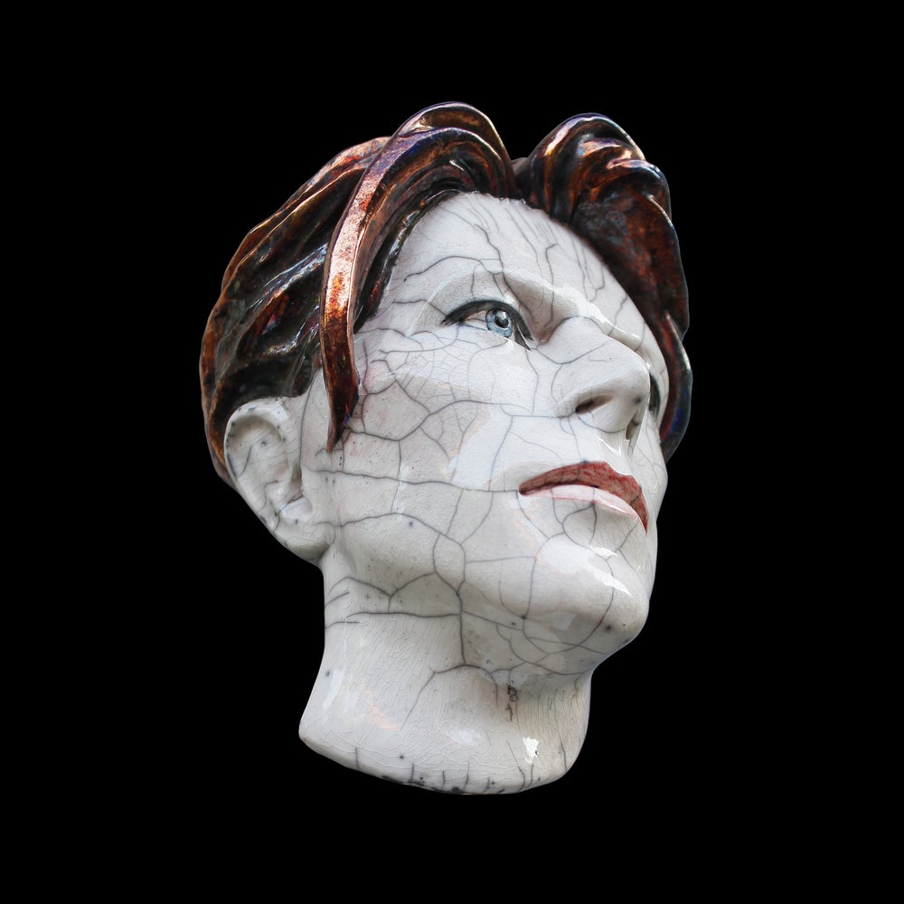 The Man Who Fell To Earth Ceramic Face Sculpture (Limited Edition Raku Piece)