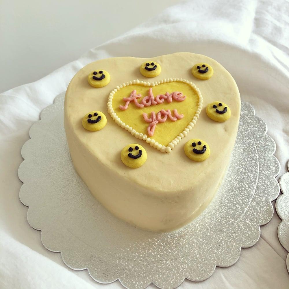 Image of Adore You Smiley Cake