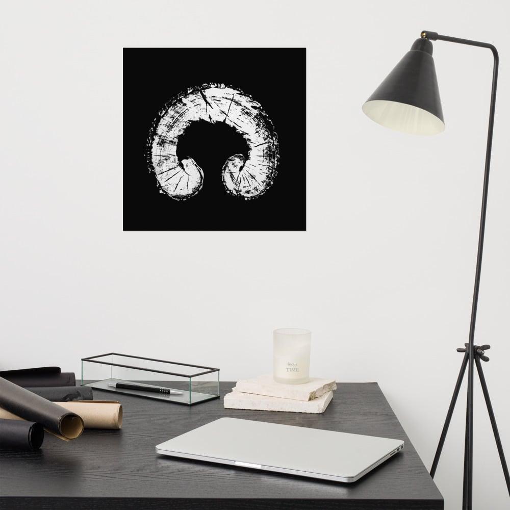 Tree of Life poster- white on black