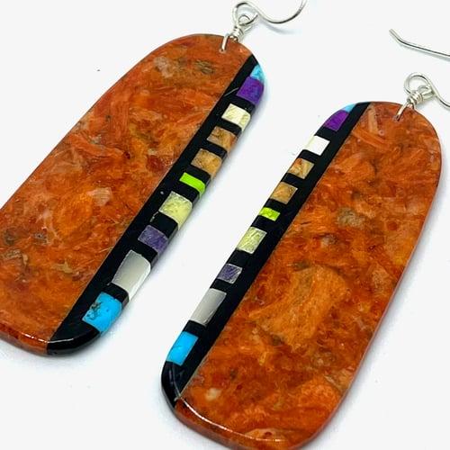 Image of Boulder Earrings (Red Earth)