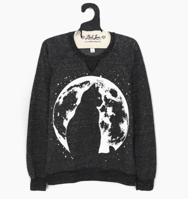 Image of Cat and Moon Sweatshirt
