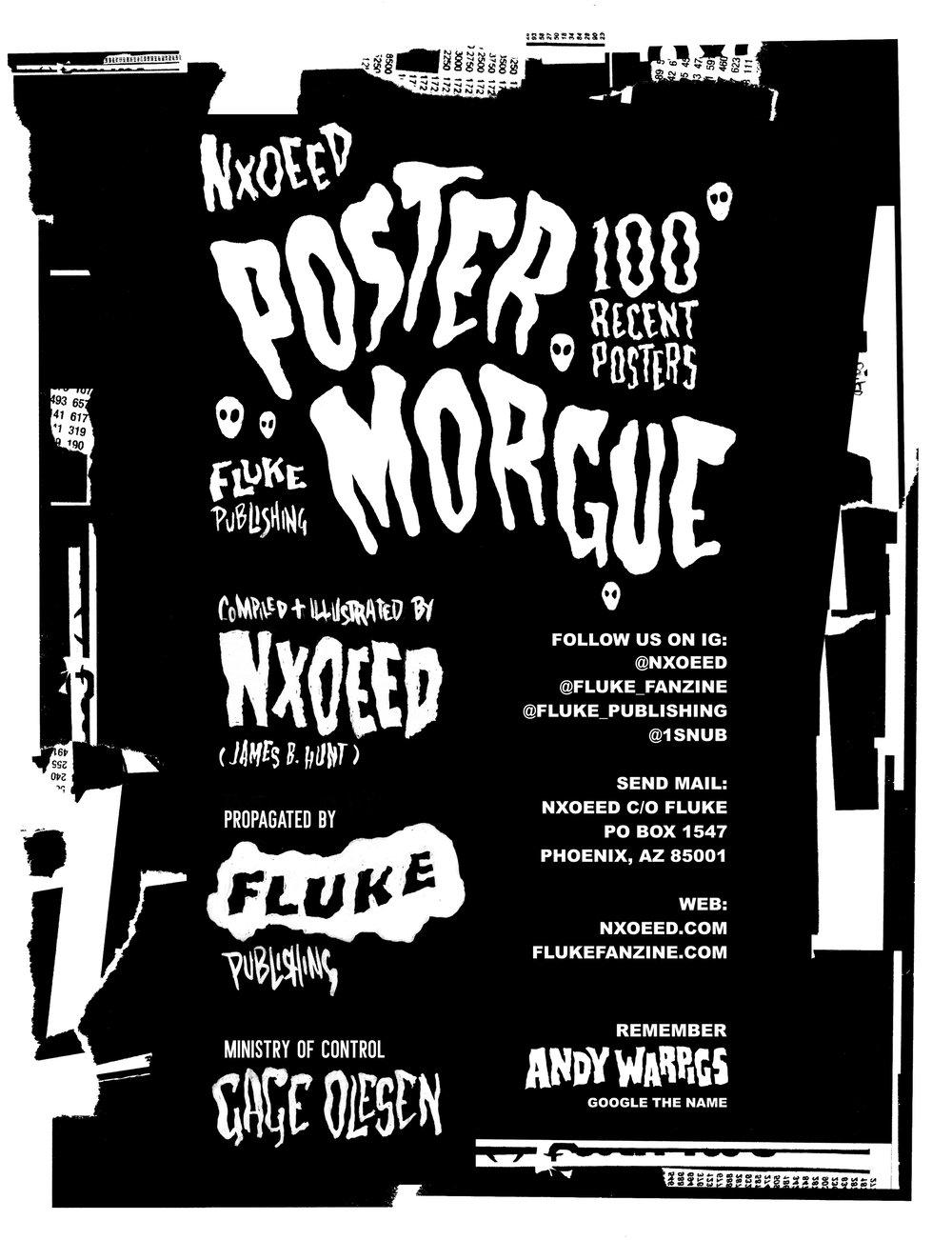 NXOEED Poster Morgue Zine