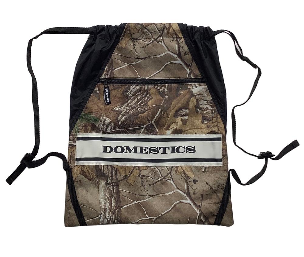 Image of DOMEstics Camo cinch bag