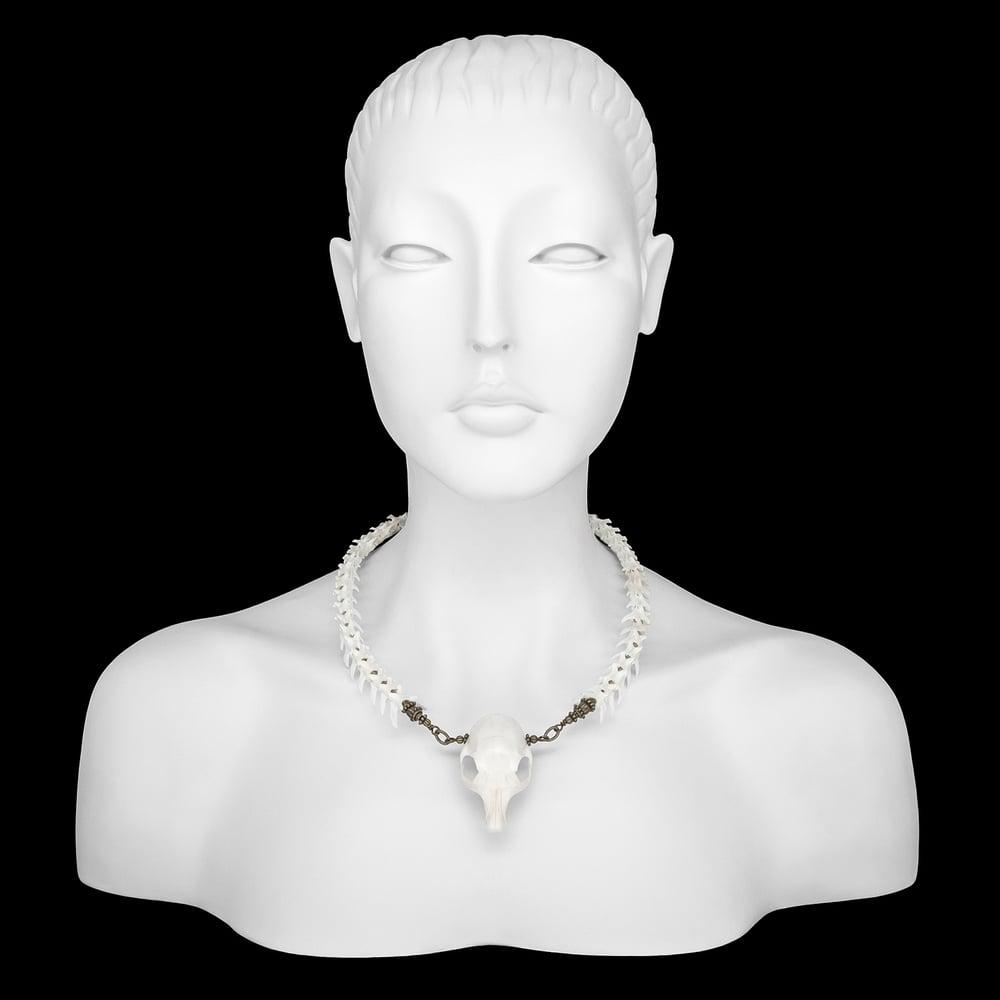 """Image of """"Cara"""" Squirrel Skull Necklace"""