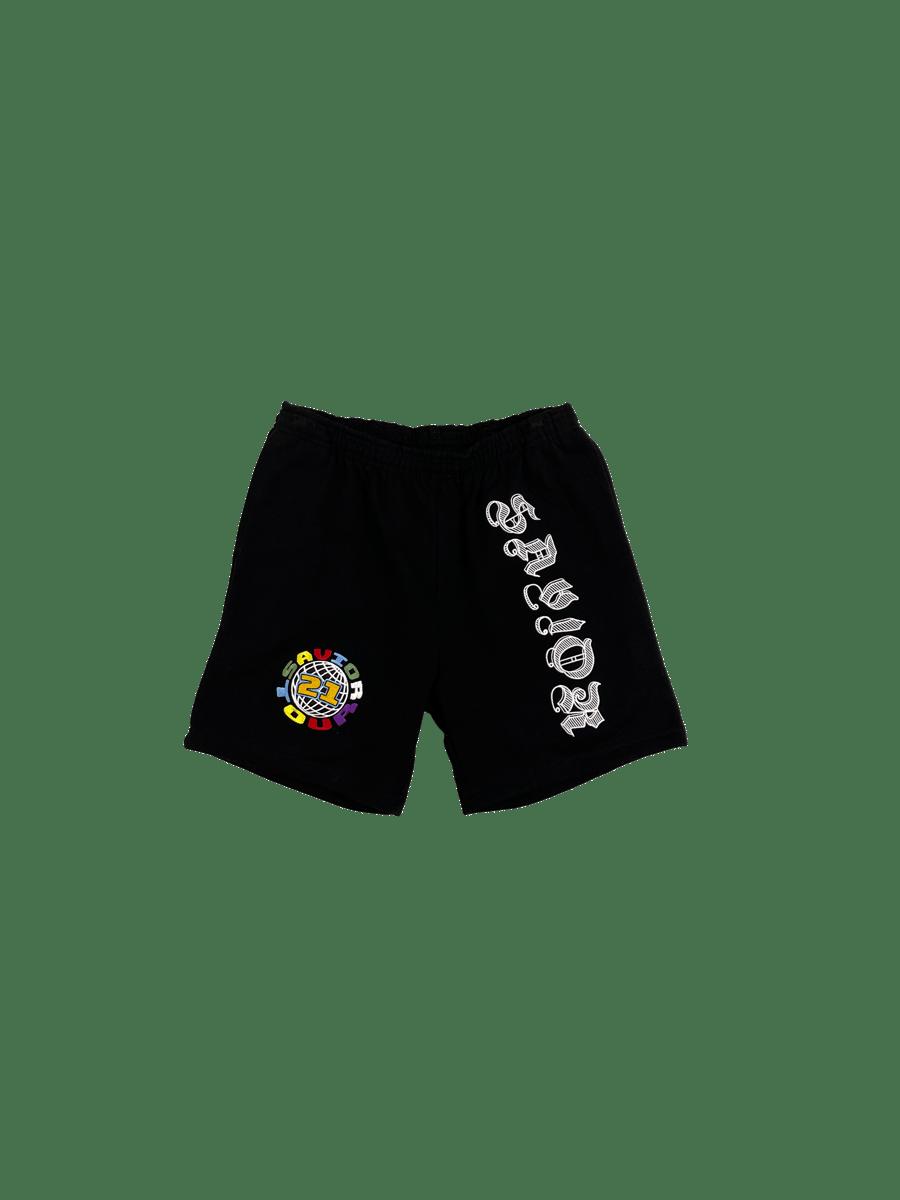 Image of Savior Sweat Shorts- Blk/Multi