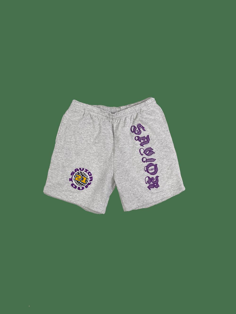 Image of Savior Sweat Shorts- Grey