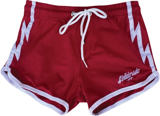 Image of RED BOOTY SHORTS
