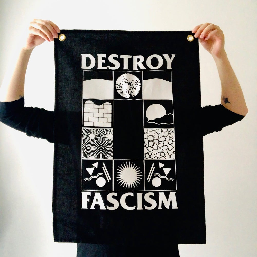 Image of Destroy Fascism fabric wall hanging