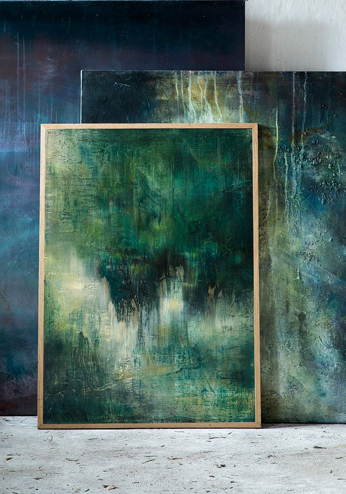 Image of Green Abstraction, Giclée Print