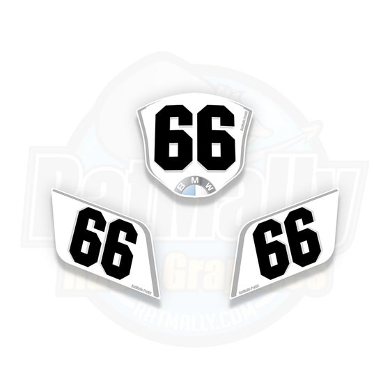 Image of Race Number Boards to fit BMW S1000RR (All years)