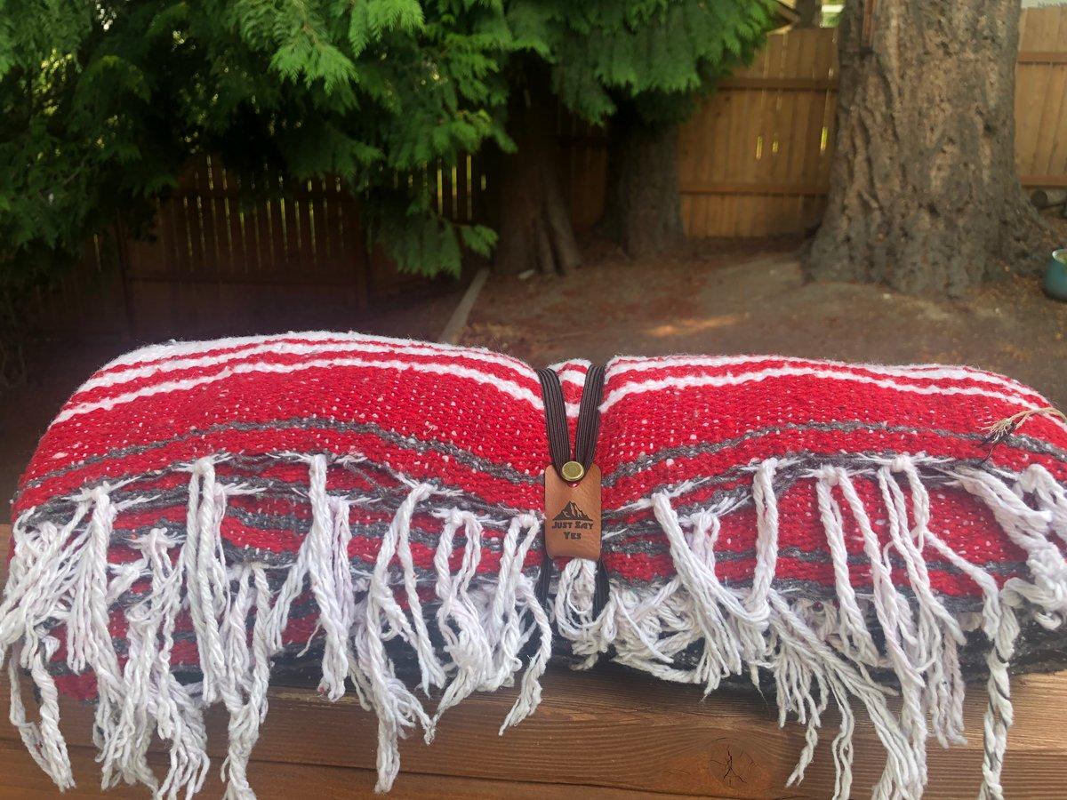 Image of Red / White / Black Baja Blanket