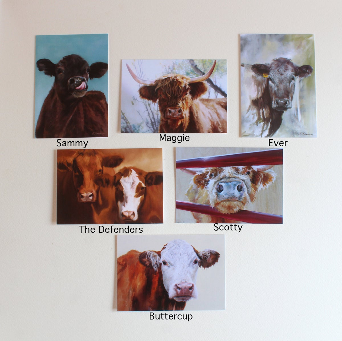 Image of Cow cards