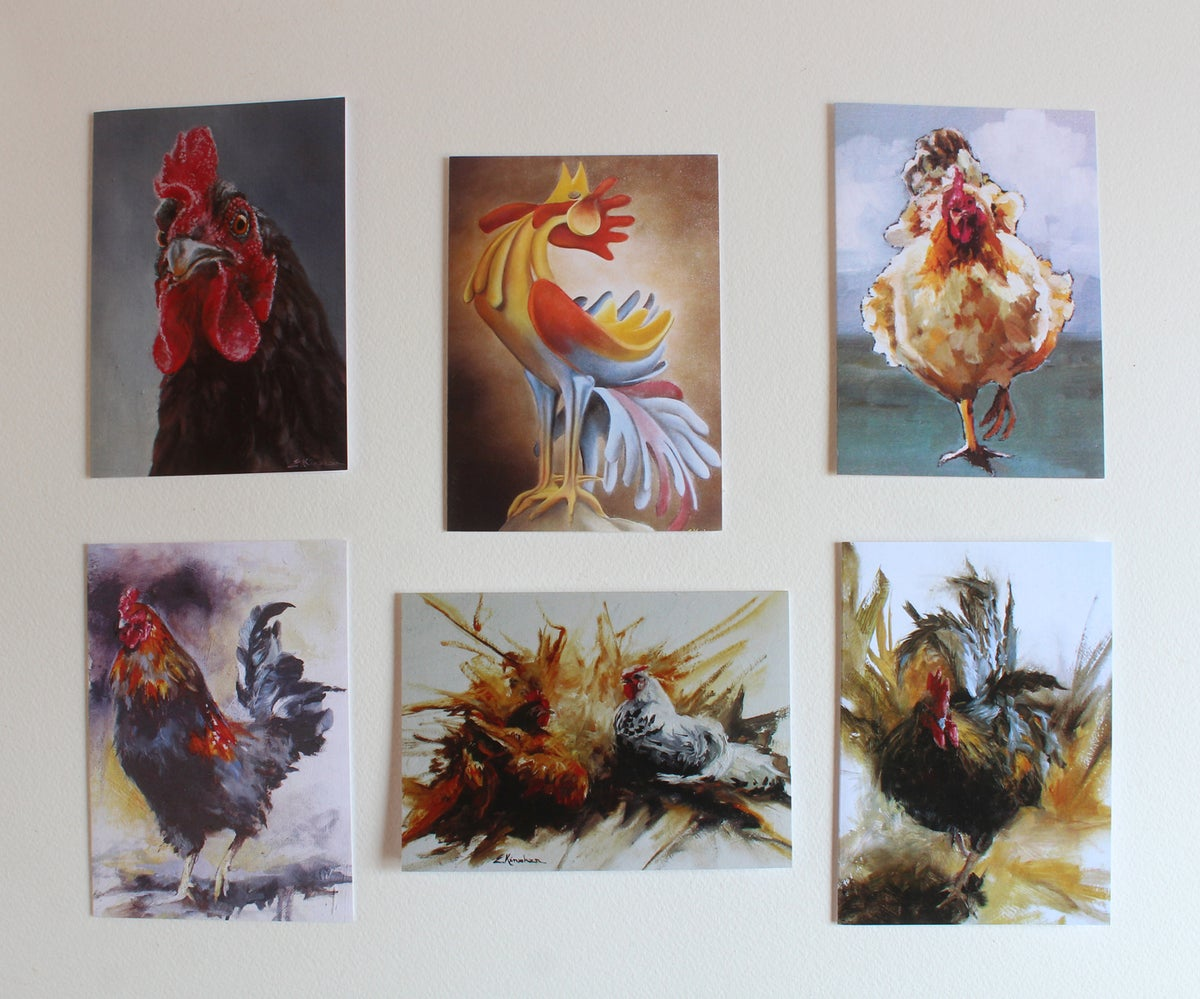 Image of Chicken and Rooster cards