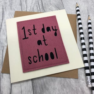Image of 1st Day at School Card