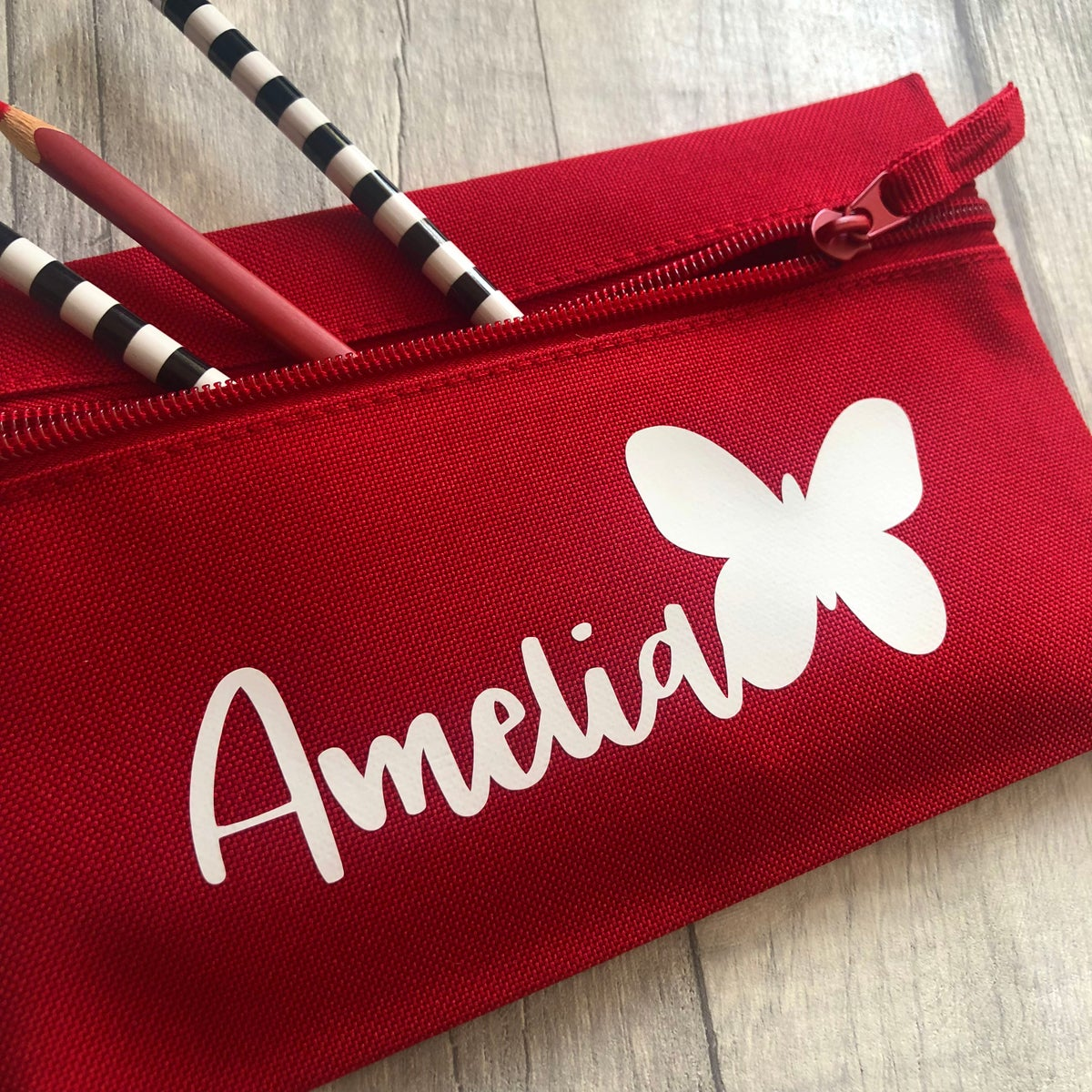 Image of Personalised Butterfly Pencil Case