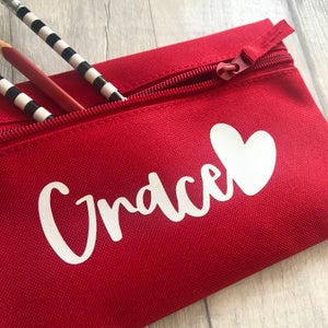 Image of Personalised Heart Pencil Case
