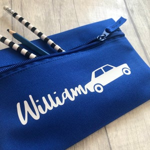 Image of Personalised Car Pencil Case