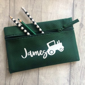 Image of Personalised Tractor Pencil Case