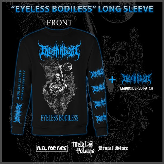 Image of *ORDER* EYELESS BODILESS LONG SLEEVE + EMBROIDERED PATCH