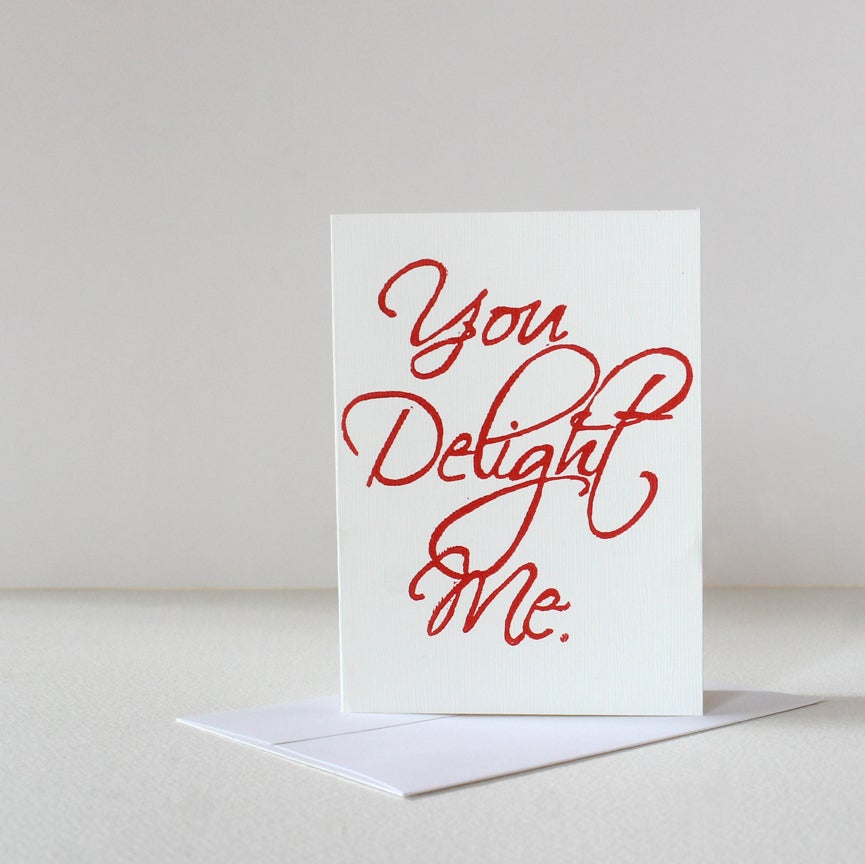 Image of You Delight Me card