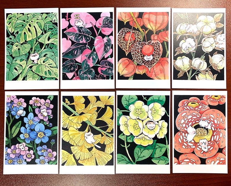 Image of Jungle cat mini print set
