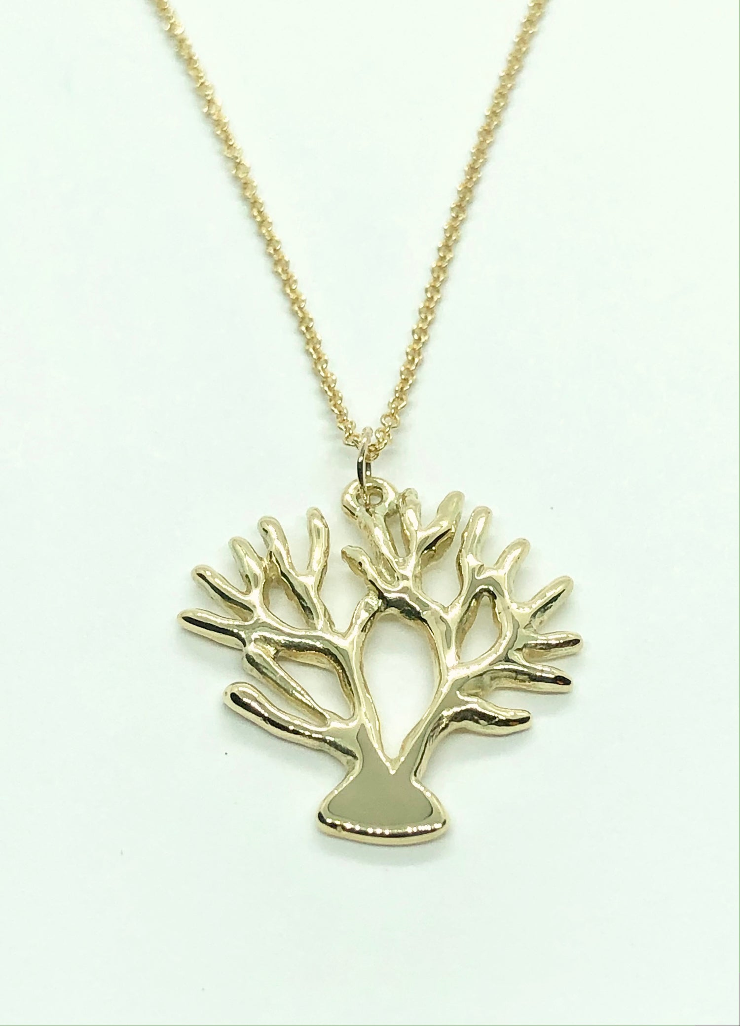 Image of 18K Coral Pendant