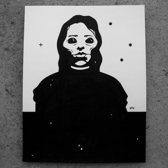 Image of In Her Eyes of Doom - original art