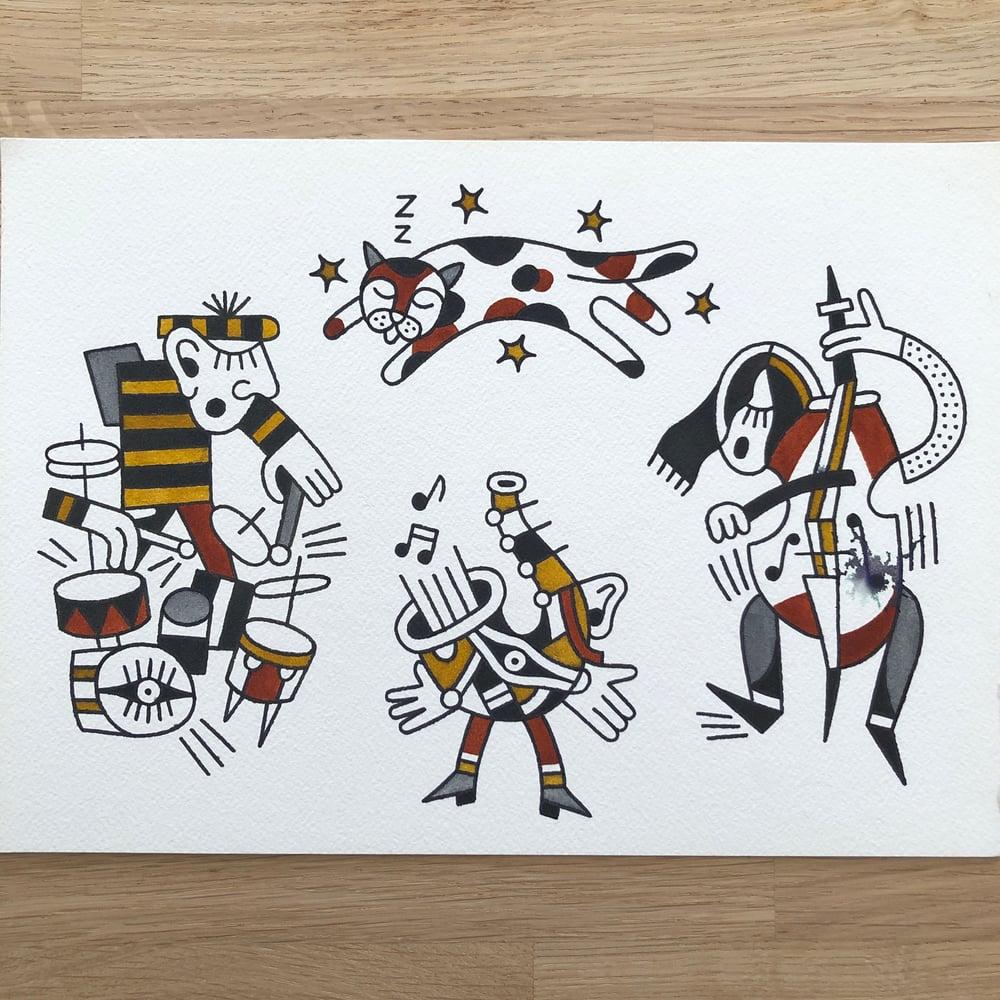Image of Jazzy cubism - Original Painting
