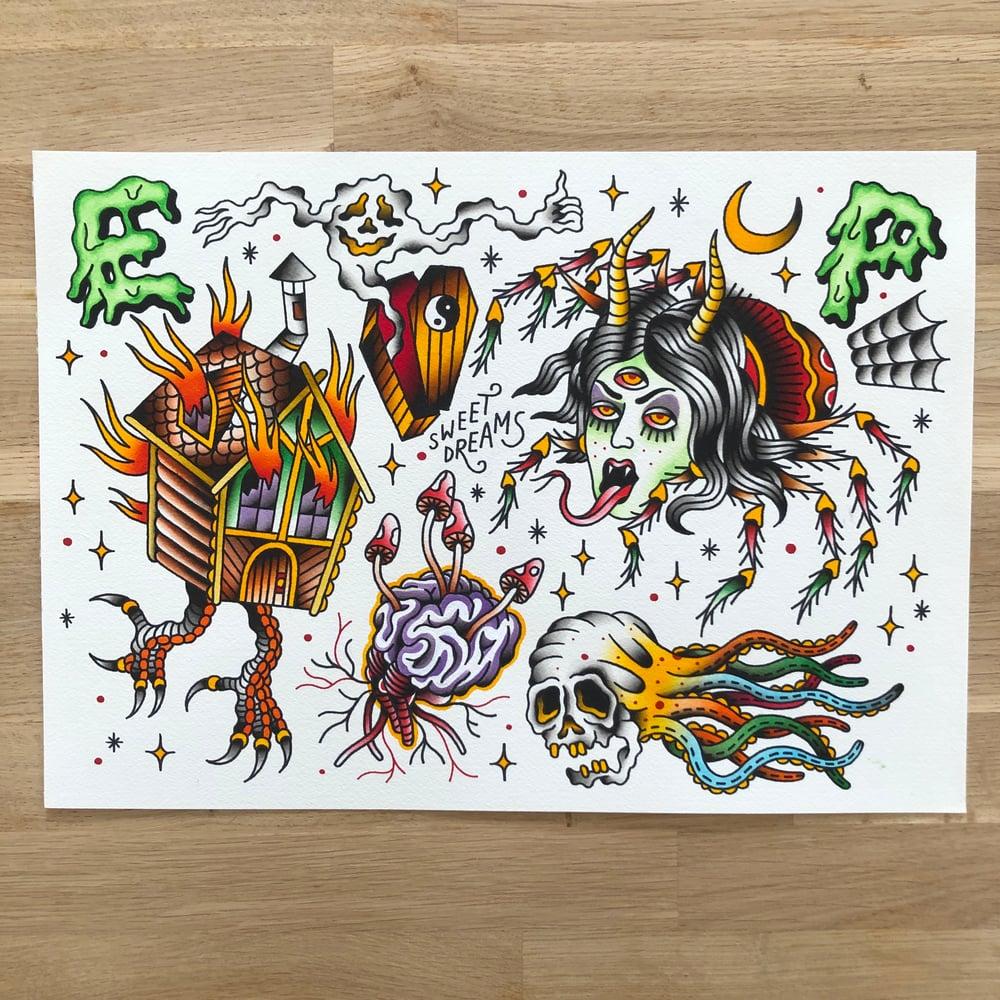 Image of Spooky stories - Original Painting