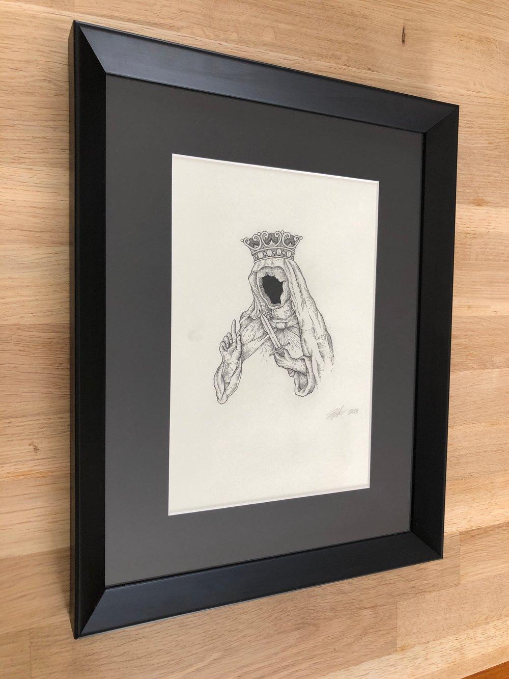 Image of Faceless saint - Original drawing