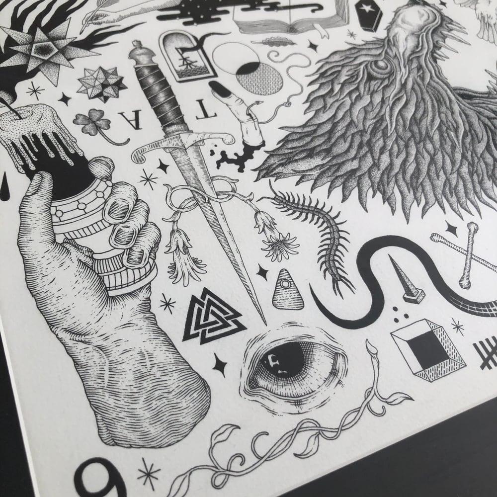 Image of Wolf - Original drawing (framed)