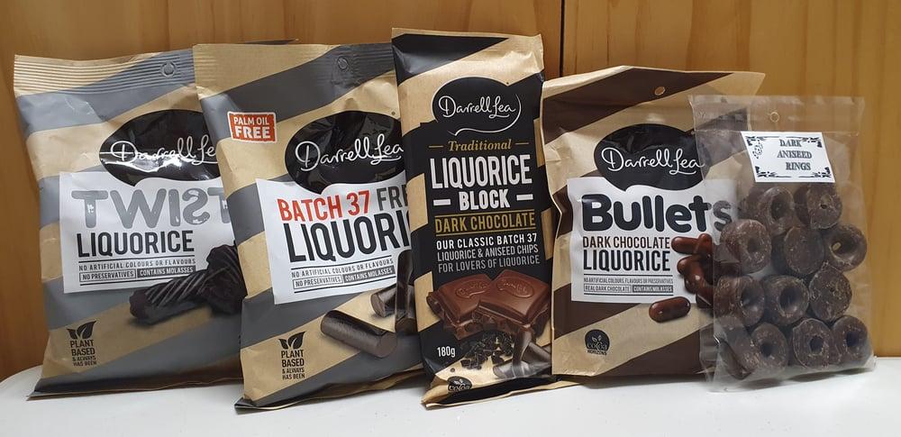 Image of Addicted to Dark Chocolate Liquorice Gift Bag