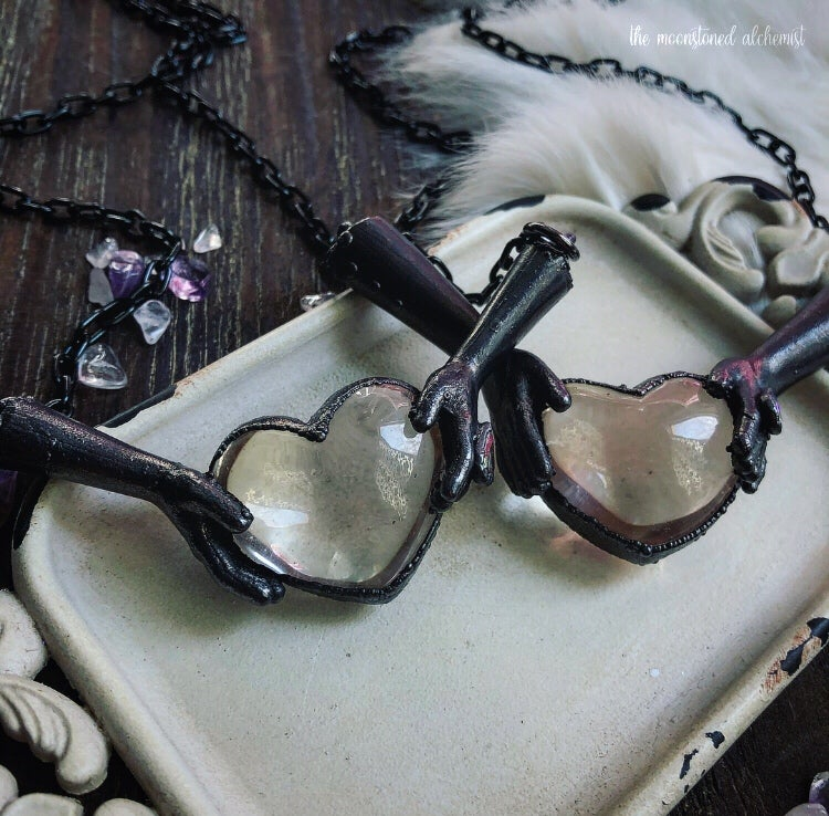 """Image of """"Your Heart's Keeper"""" Quartz Amulets"""